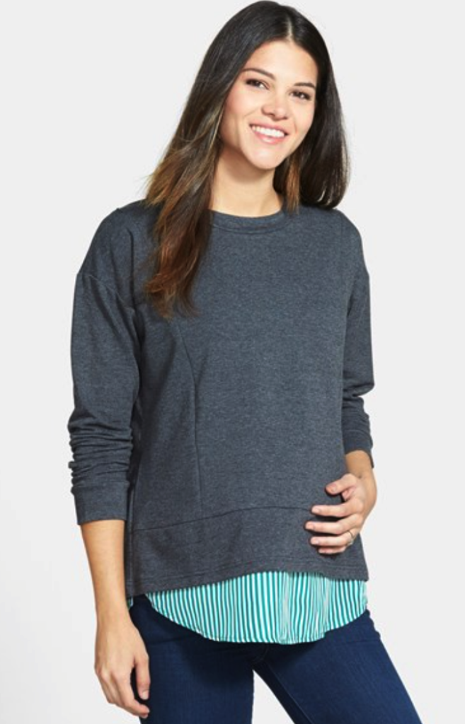 Loyal Hana maternity/nursing layered look sweatshirt