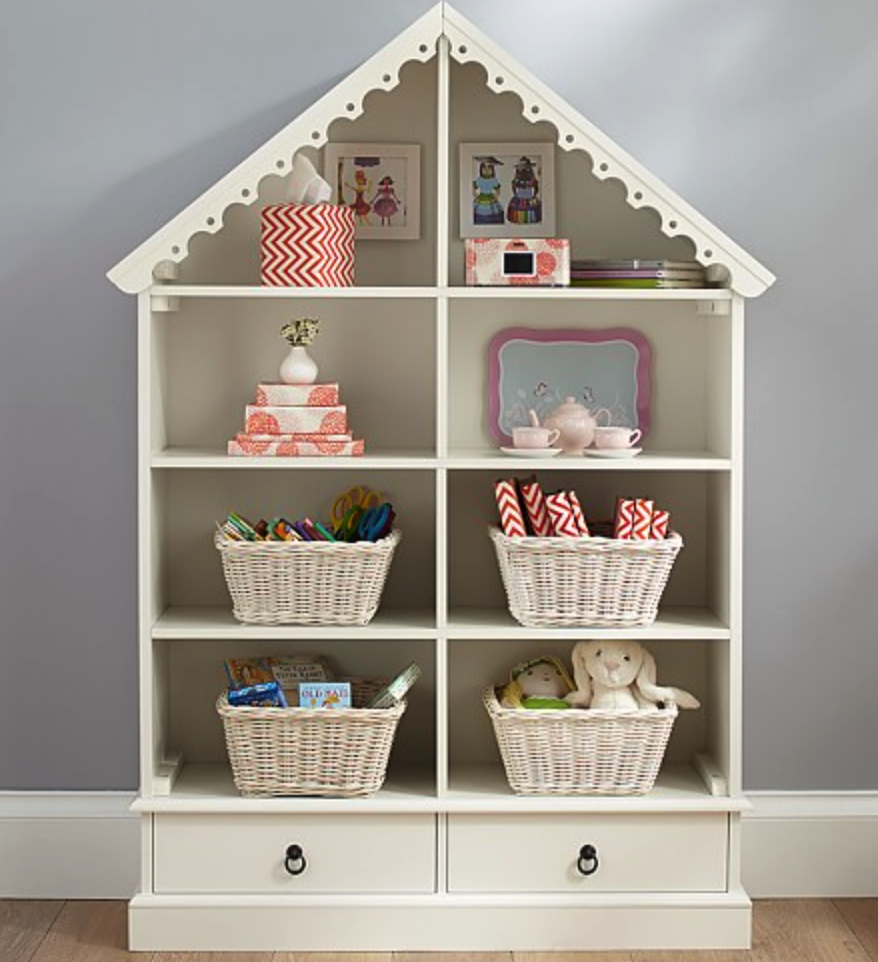 Pottery Barn dollhouse bookcase