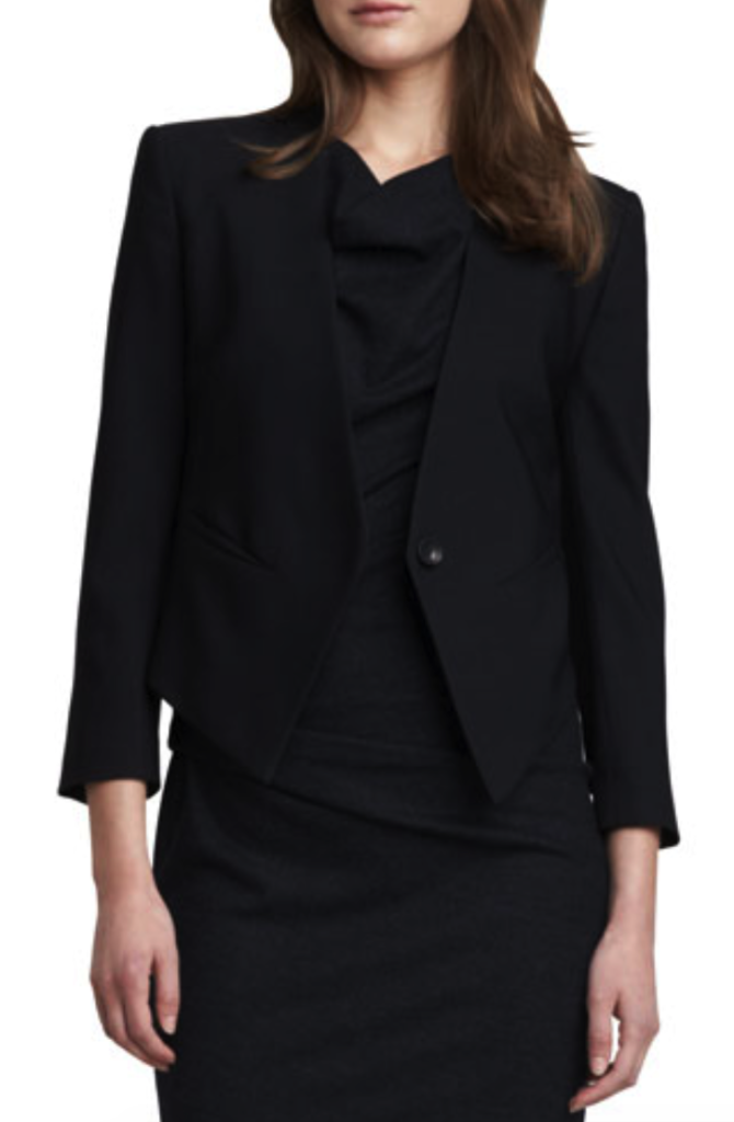 Helmut Lang cropped tuxedo blazer - tuxedo jackets