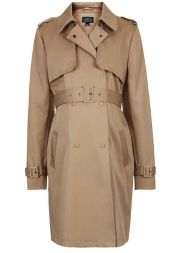 Topshop maternity trench