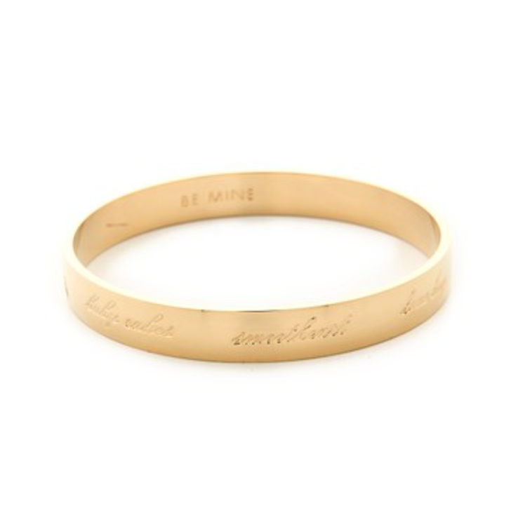 Kate Spade valentines bangle