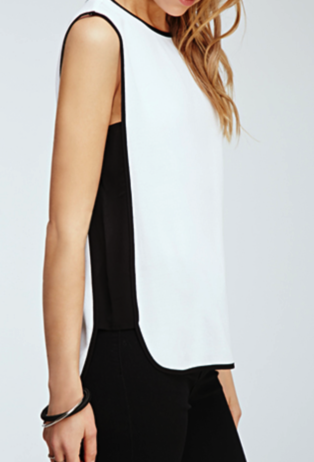 Forever 21 contrast panel top