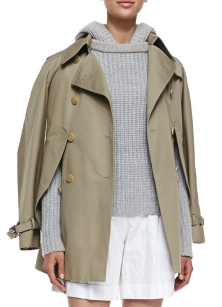 Michael Kors convertible cape/trench jacket