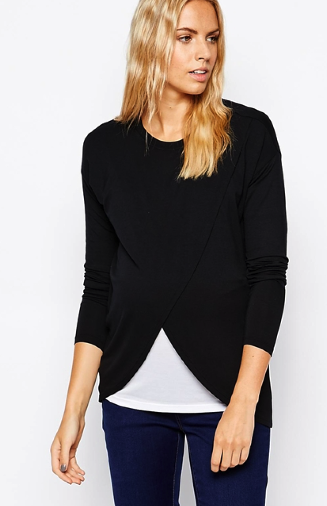 Asos maternity/nusing top