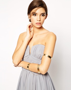 Asos stacked midi arm cuff
