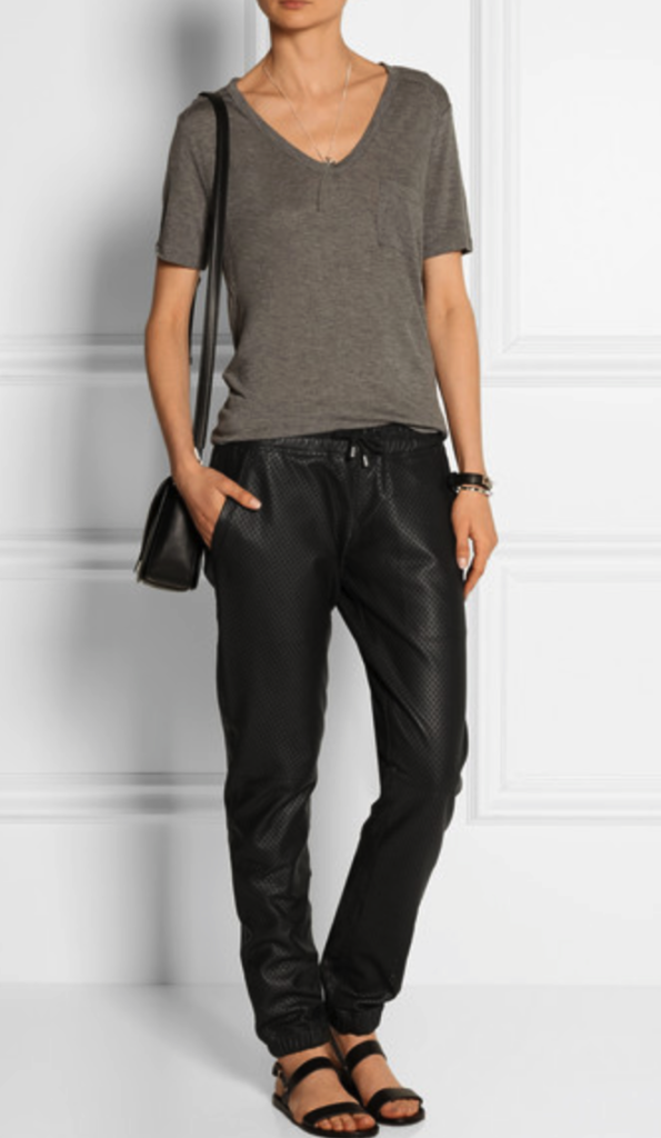 Lot 78 leather track pants