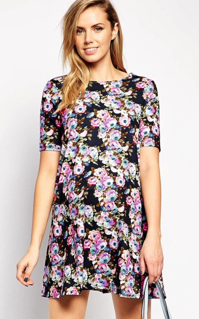 Asos maternity dress - fashionable maternity clothes
