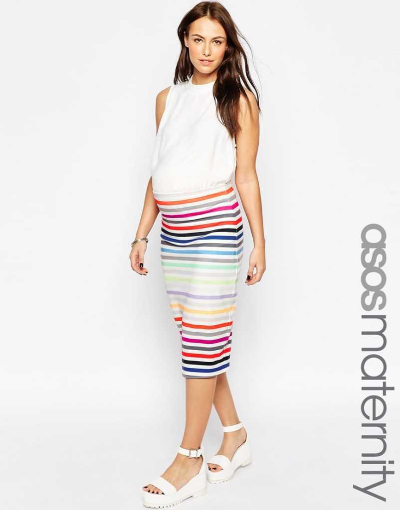 Asos maternity skirt