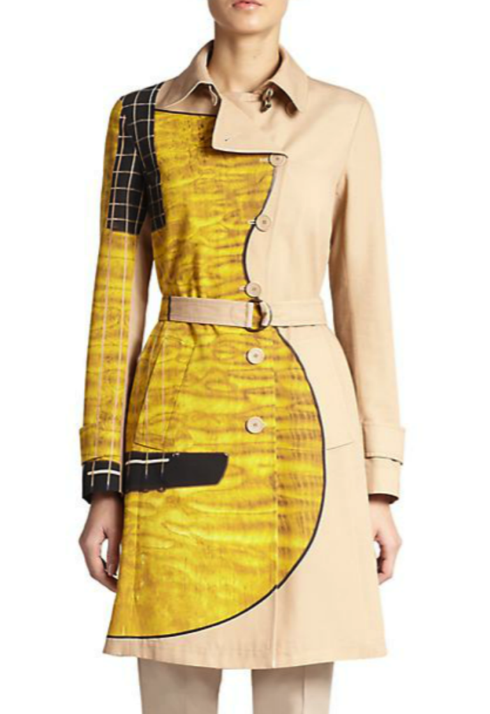 Akris Punto guitar print trench