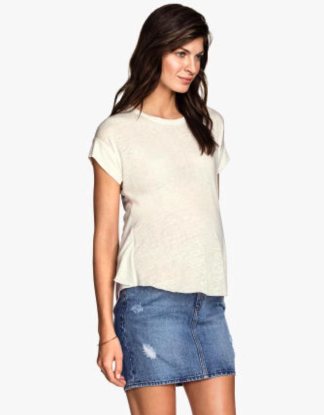 H&M maternity denim skirt