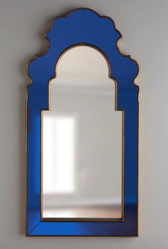 Bunny Williams sapphire mirror