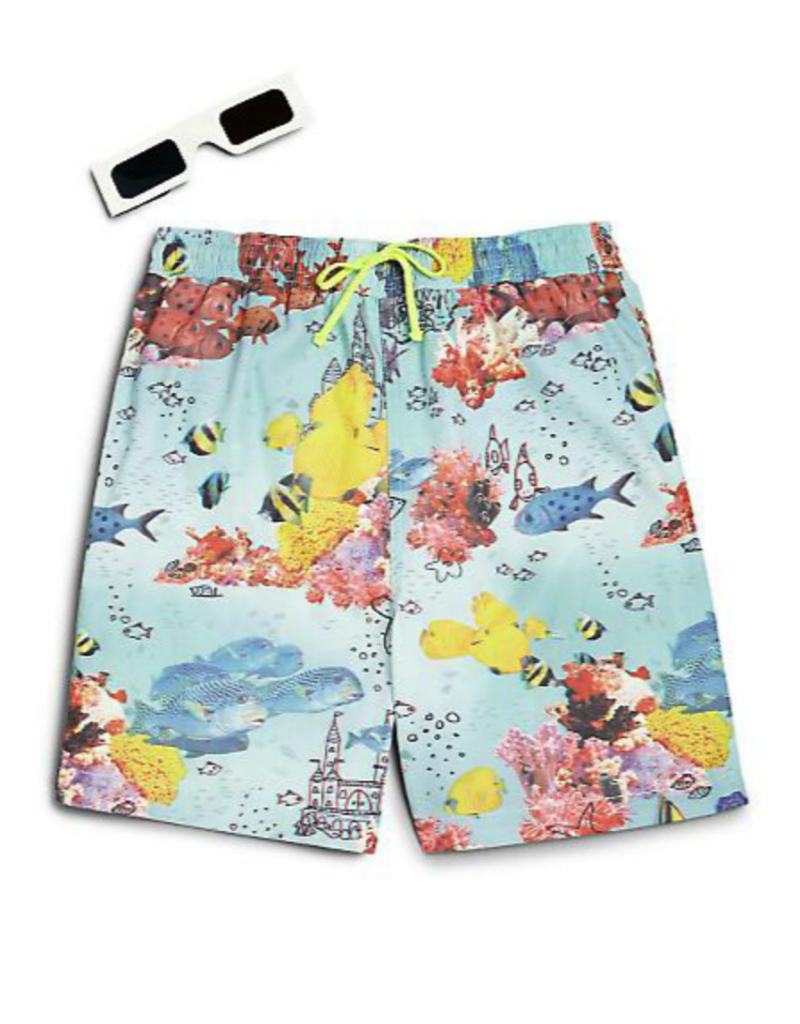 Stella McCartney Kids 3D swim trunks and glasses