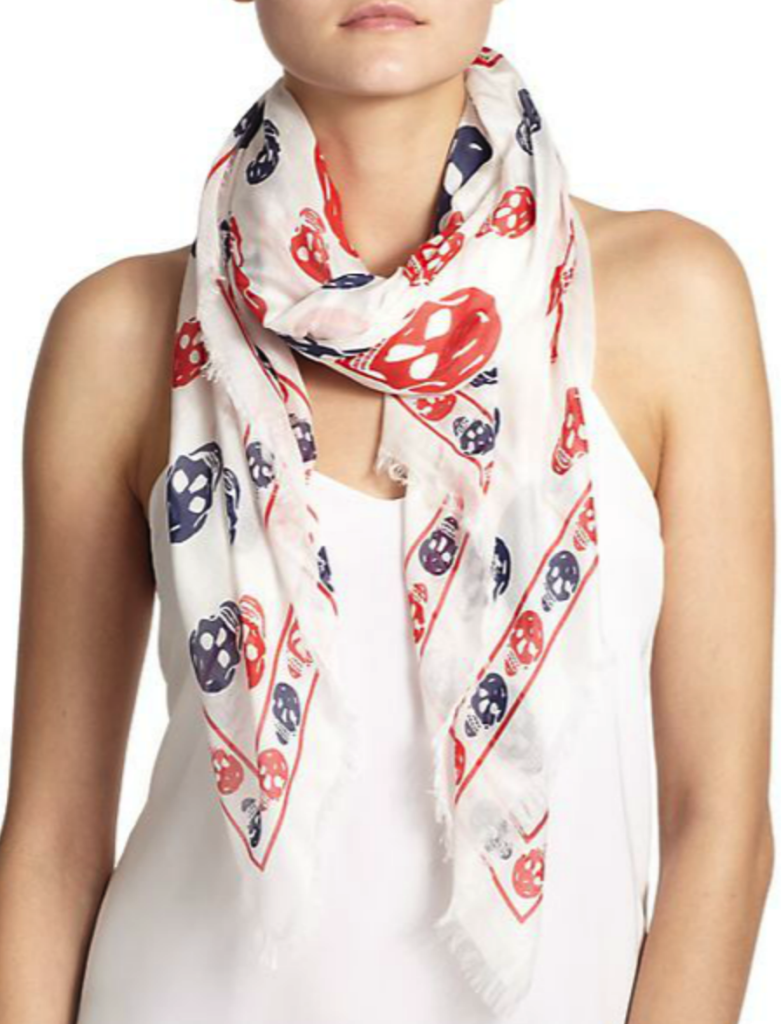 Alexander McQueen scarf - summertime accessories