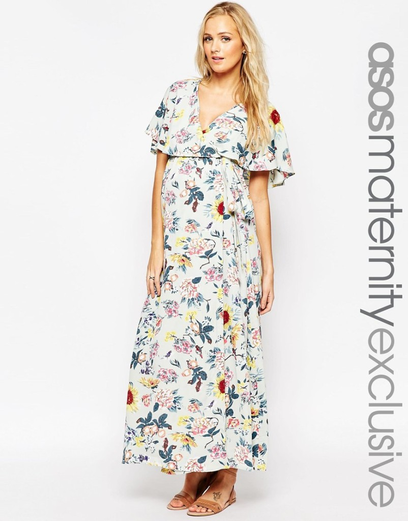 Asos maternity maxi dress