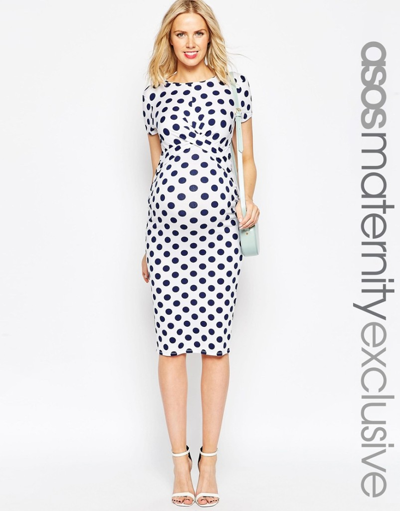 Asos maternity dress - stylish pregnancy wear
