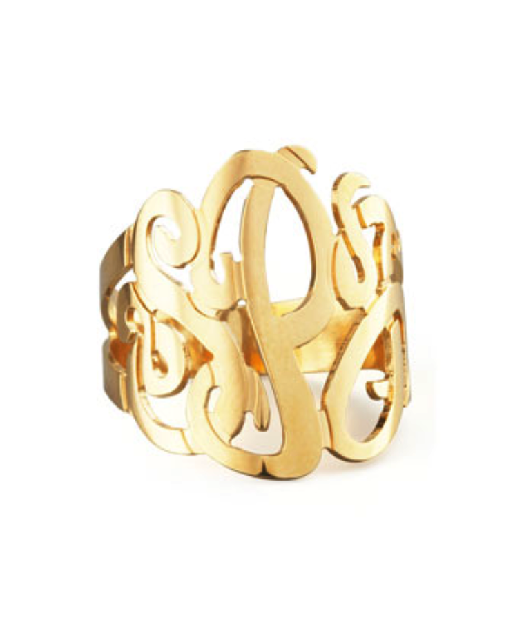 Jennifer Zeuner monogram ring