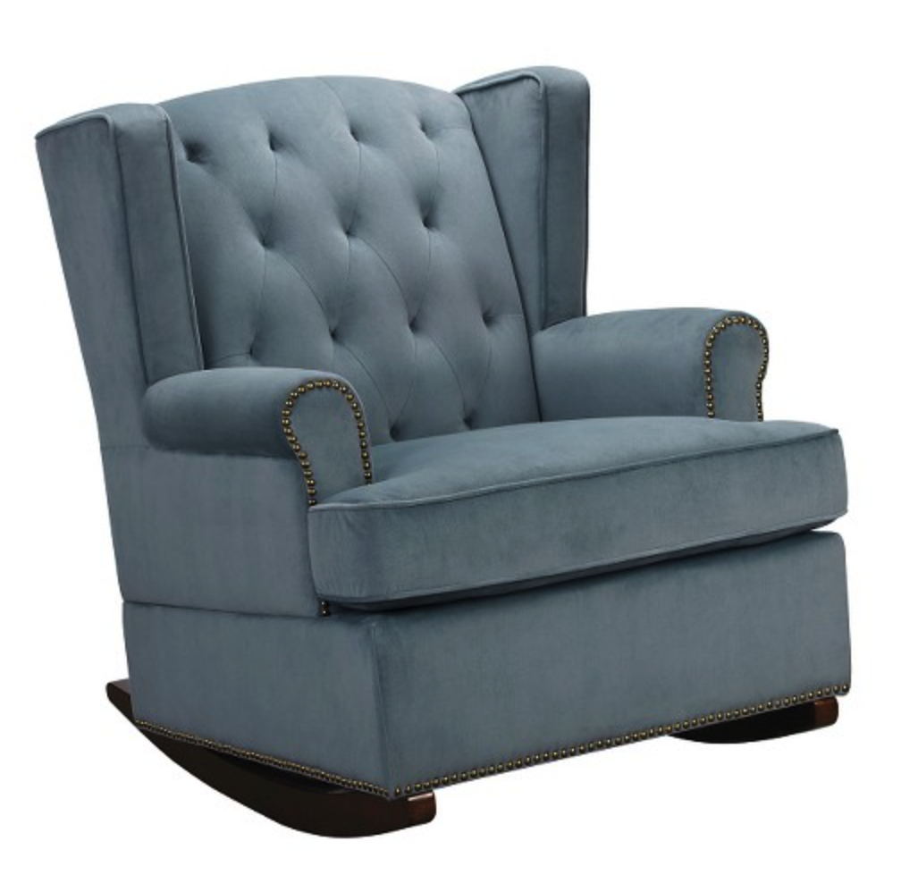 Tufted wingback rocker