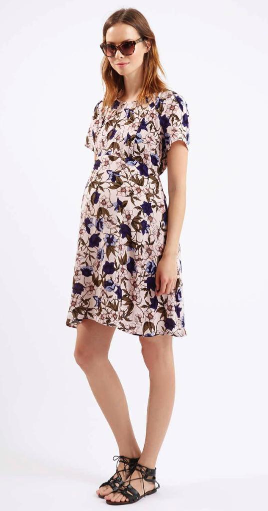 Topshop dress - stylish pregnancy